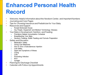 Enhanced Personal Health Record