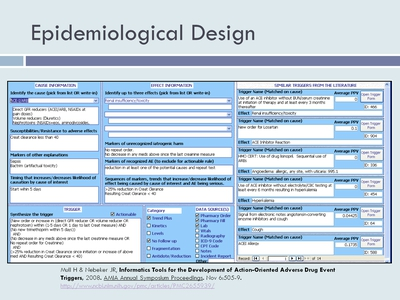 Epidemiological Design