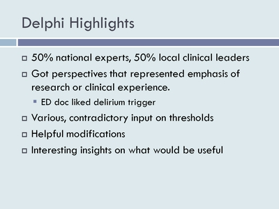 Delphi Highlights