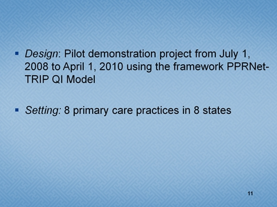 Slide 11. Design and Setting
