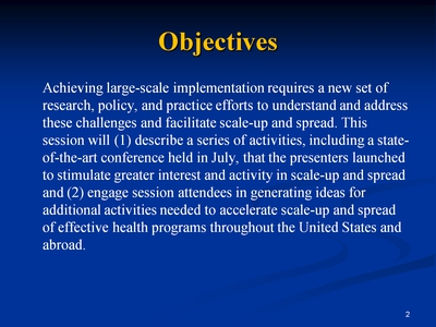 Slide 2. Objectives