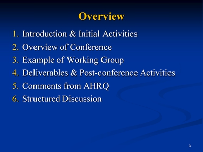 Slide 3. Overview