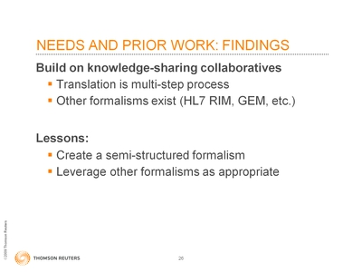 Slide 26. Needs and Prior Work: Findings