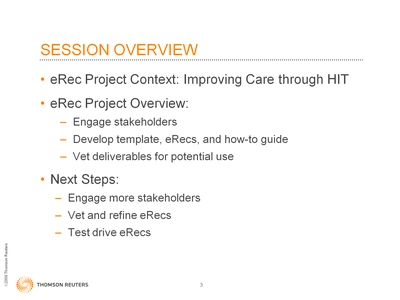 Slide 3. Session Overview