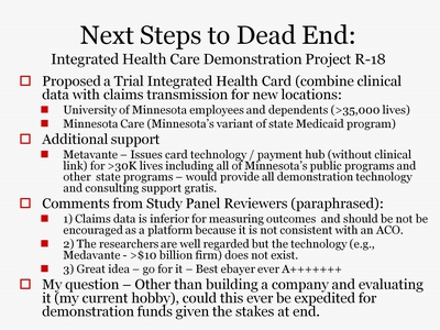 Next Steps to Dead End: