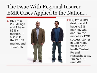 The Issue With Regional Insurer EMR Cases Applied to the Nation . . .