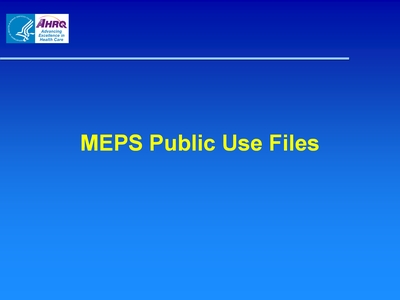 MEPS Public Use Files