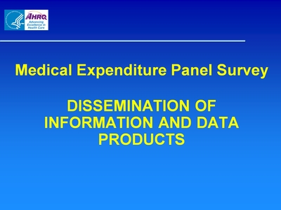 Dissemination of Information and Data Products