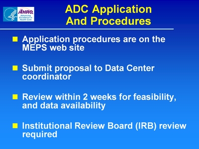ADC Application And Procedures
