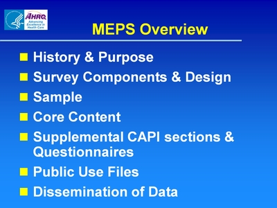 MEPS Overview