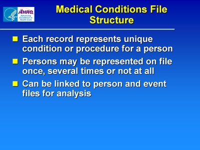 Medical Conditions File Structure