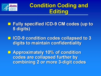 Condition Coding and Editing