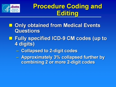 Procedure Coding and Editing