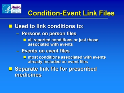 Condition-Event Link Files