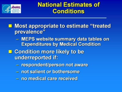 National Estimates of Conditions