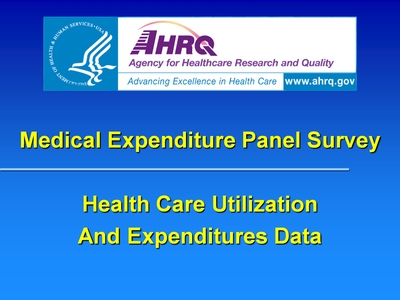 Health Care Utilization And Expenditures Data
