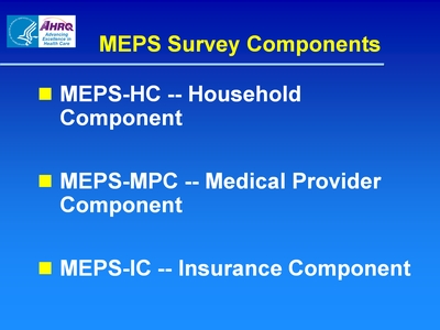 MEPS Survey Components
