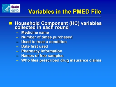 Variables in the PMED File