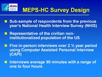 MEPS-HC Survey Design