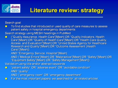 Literature review: strategy