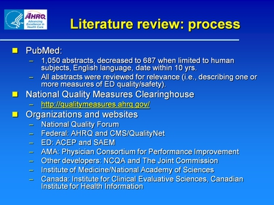 Literature review: process