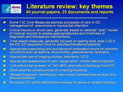 Literature review: key themes