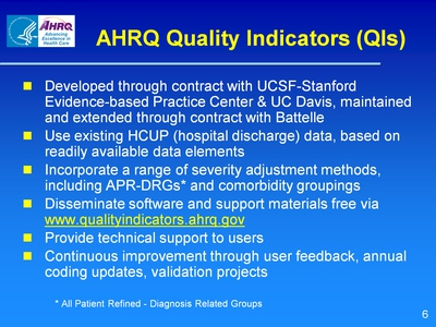 AHRQ Quality Indicators (QIs)
