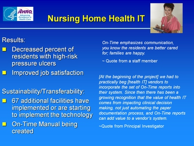 Slide 11. Nursing Home Health IT