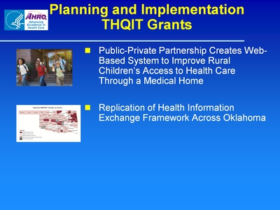 Slide 19. Planning and Implementation THQIT Grants