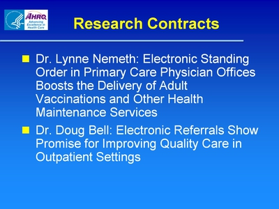Slide 50. Research Contracts