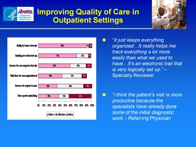 Slide 57. Improving Quality of Care in Outpatient Settings