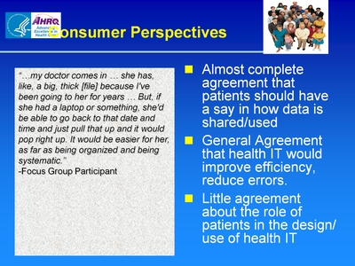 Slide 64. Consumer Perspectives