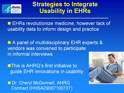 Slide 67. Strategies to Integrate Usability in EHRs