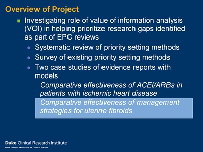 Slide 3. Overview of Project