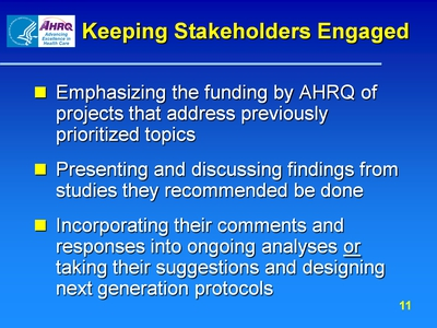 Keeping Stakeholders Engaged