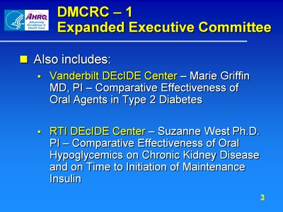 DMCRC-1: Expanded Executive Committee