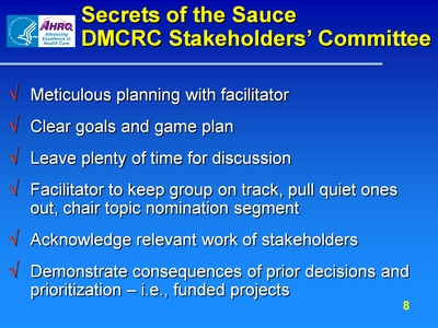 Secrets of the Sauce DMCRC Stakeholders' Committee