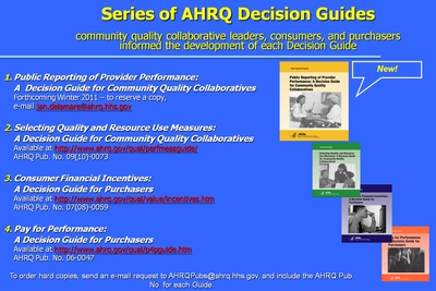 Series of AHRQ Decision Guides