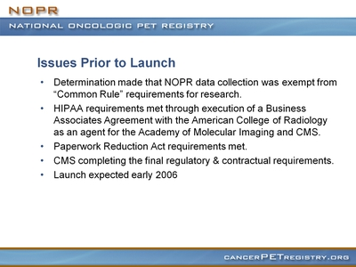 Slide 19. Issues Prior to Launch