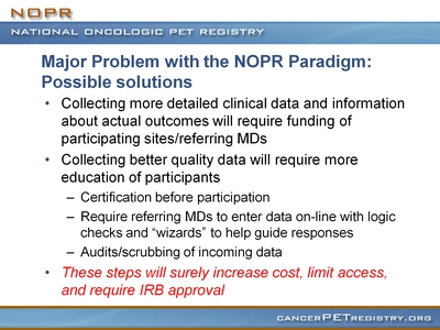 Slide 27. Major Problem with the NOPR Paradigm: Possible solutions