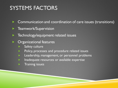 Systems Factors