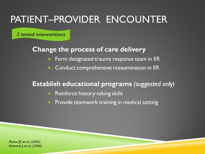 Patient-Provider Encounter