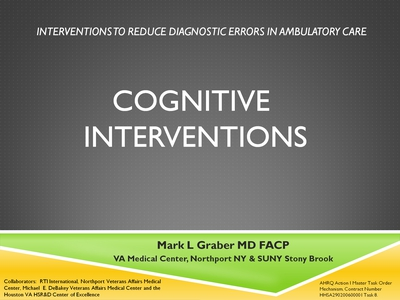 Cognitive Interventions
