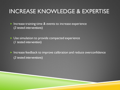 Increase Knowledge & Expertise