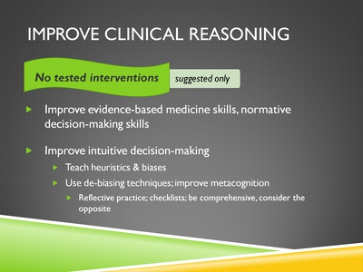 Improve Clinical Reasoning