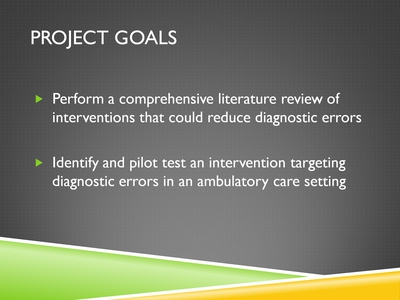Slide 3. Project Goals