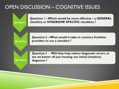Open Discussion-Cognitive Issues