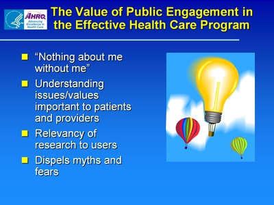 The Value of Public Engagement in the Effective Health Care Program