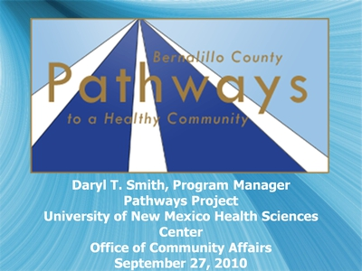Bernalillo County Pathways to a Healthy Community