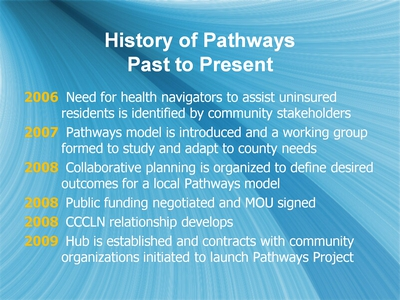 History of Pathways: Past to Present